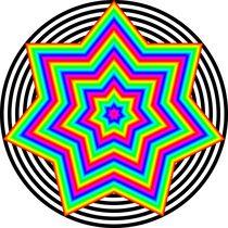 rainbow heptagram 7/2 by Chandler Klebs