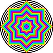 rainbow octagram 8/2 by Chandler Klebs