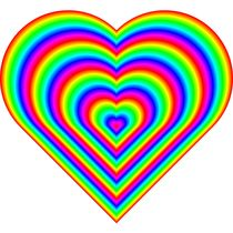 rainbow heart by Chandler Klebs