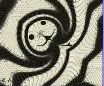 Kettennatter -Schlange -Reptil von netteart