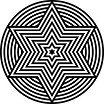 zebra hexagram by Chandler Klebs