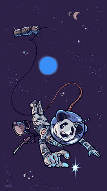 Panda the astronaut. by Oleksiy Tsuper