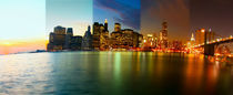 New York - Art Print - Manhattan Skyline - Time Lapse Photography - Zeitraffer Fotografie - landscape format 5x2