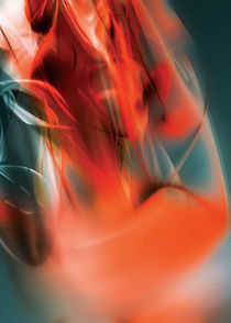 Digital abstract red liquid background by Maciej Frolow
