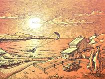 Sunset kite-surfing.  von Oleksiy Tsuper