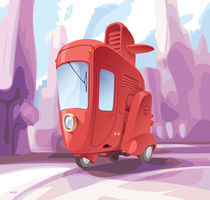Three-wheeled small city car. by Oleksiy Tsuper