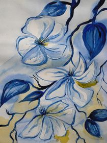 blue flowers by Katja Finke