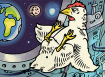 Space-chicken. by Oleksiy Tsuper