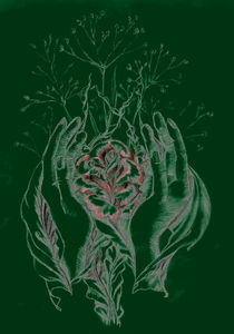 rose and hands green von Nicole Schmidt