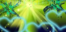 Freshness Light of Green Fantasy and Hope by Martina Ute Rudolf