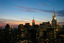 Manhattan Skyline - New York - Dawn / Dämmerung 02 - 3x2 by temponaut