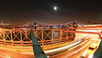 New York - Manhattan and Brooklyn Bridge - NYC - landscape format von temponaut