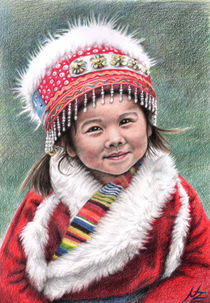 Tibetan Girl by Nicole Zeug