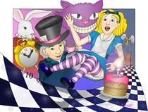 Alice Goes down the Rabbit Hole by darkrubymoon