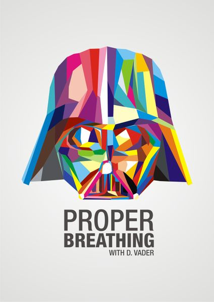 proper breathing digital art art prints and posters by vytis