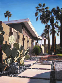 Twin Palms Pathway by Danny Heller