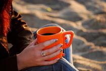 Coffee on beach by Miroslav Penchev