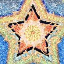 Floral Star Yantra by regalrebeldesigns
