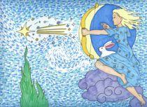 Asteria shoots a star von darkrubymoon