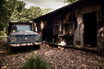 Truck and Barn by Susan Isakson