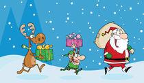 Cartoon Christmas Night  von hittoon