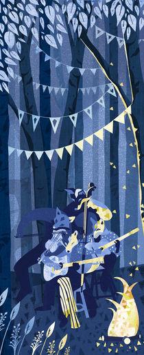 Silver Vixen Swing by Caroline Halliwell