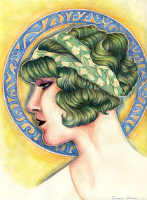 Art nouveau lady II von Francesca Zambon