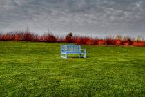 Blue Bench by Marco Moroni