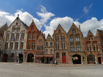 Town Houses on a Square in Brugge, Belgium by Louise Heusinkveld