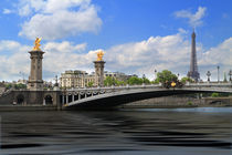 Memories of Paris, the Alexander Bridge and the Eiffel Tower. by Louise Heusinkveld