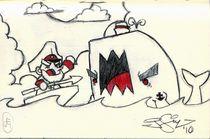 Ahab vs Moby by John Siy