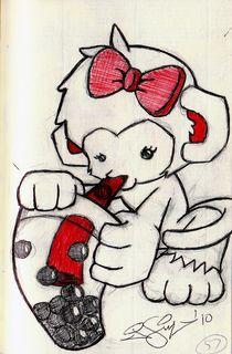 Boba Monkey von John Siy