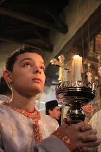 Greek Orthodox Christmas ceremony at the Church of the Nativity by Hanan Isachar