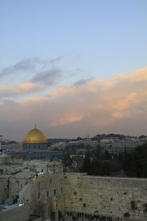 Jerusalem, a view of the Western Wall and the Dome of the Rock  von Hanan Isachar