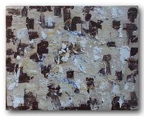 Abstrakt in beige-braun von Celine Zapp
