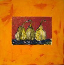 Birnen abstrakt von Ka Wegner