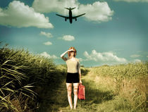 girl with airplane by Sanja Marusic