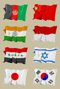 Eight-asian-flags