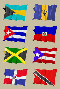 Eight-caribbean-flags