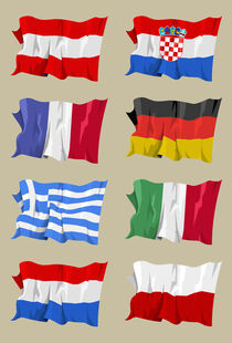 Eight-european-flags