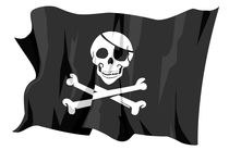 Jolly Roger - Pirates flag by William Rossin