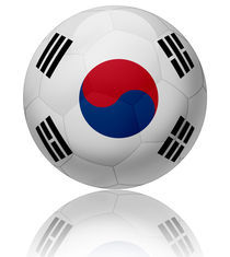 South Korea flag ball by William Rossin