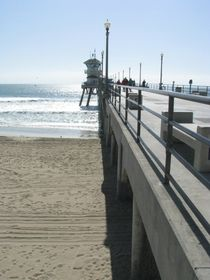 Huntington Beach Pier at Main Street by Jennifer Jenesis Photography