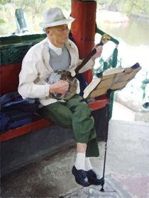 Musiker im Kunming-Park in China von Hermann Bauer
