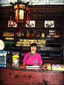 Verkäuferin in Beijing von Hermann Bauer