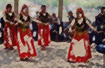 Tänzerinnen in Kunming von Hermann Bauer