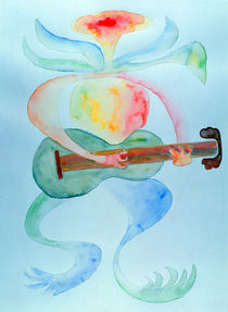 Wasserpflanze spielt Gitarre von Hermann Bauer