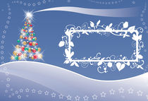 Christmas tree lights and stars von William Rossin