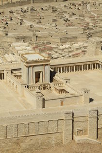 The Model of the Second Temple in Jerusalem von Hanan Isachar