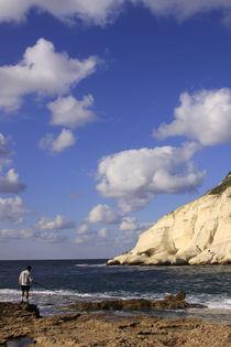 Galilee, fishing in Rosh Hanikra by Hanan Isachar